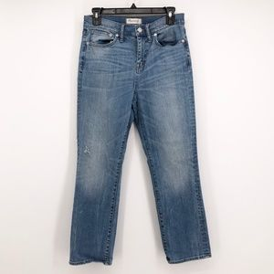 MADEWELL Kick Out Crop Jeans Demi Boot High Rise
